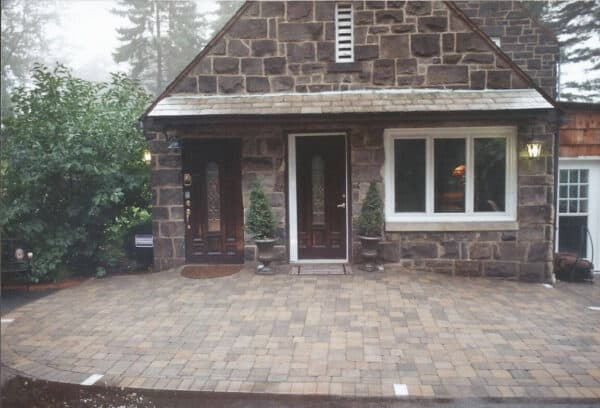 Rustic Stone House with Stone Patio