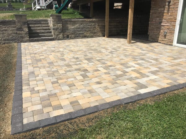 Mulit-Colored Stone Patio