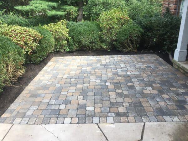 Small Mulit-Colored Stone Patio