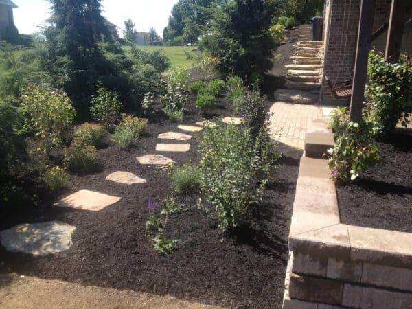 Stone Pathway in a Garden