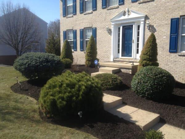 Stone Walkway Leading to a Front Door